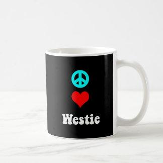 Amor Westie de la paz Taza Clásica