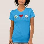 Amor Westies de la paz Camiseta