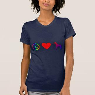 Amor Whippets de la paz Camiseta