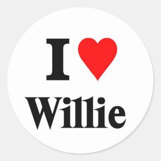 Amor Willie Pegatina Redonda