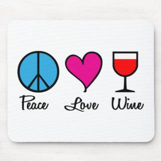 Amor Wine1 de la paz Alfombrillas De Raton