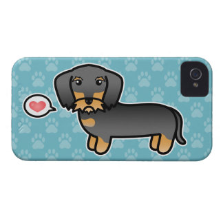 Amor Wirehaired del Dachshund del jabalí iPhone 4 Protector