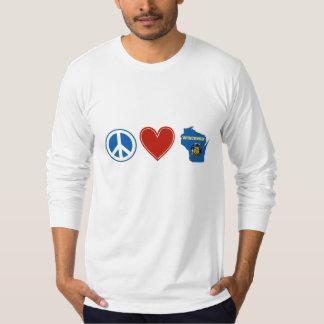 Amor Wisconsin de la paz Playeras