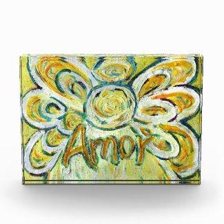 Amor Word Guardian Angel Art Custom Paperweight Acrylic Award