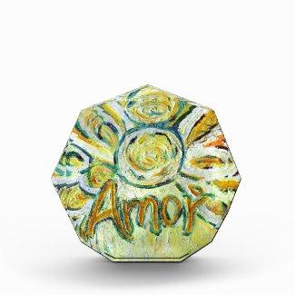 Amor Word Guardian Angel Art Custom Paperweights Acrylic Award
