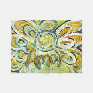 Amor Word Guardian Angel Custom Fleece Blanket