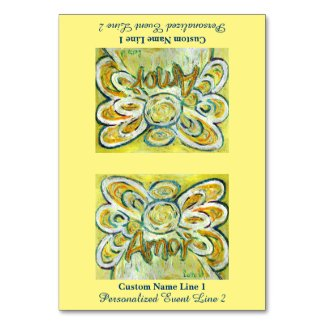 Amor Word Inspirational Angel Customize Table Tent Table Number