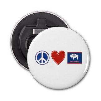 Amor Wyoming de la paz Abrebotellas Redondo