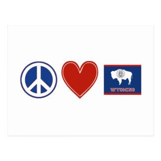 Amor Wyoming de la paz Tarjetas Postales