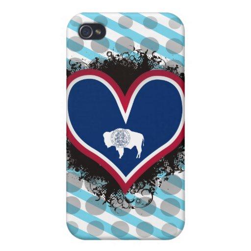 Amor Wyoming del vintage I iPhone 4/4S Carcasa