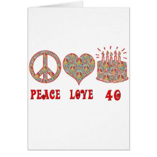 Amor y 40 de la paz felicitación
