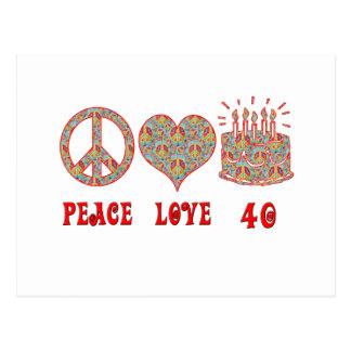 Amor y 40 de la paz postal