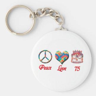 Amor y 75 de la paz llavero redondo tipo pin