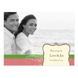 Amor y alegría en Houndstooth Tarjetas Postales
