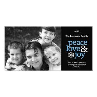 Amor y alegría - tarjeta de la paz de la foto tarjeta con foto personalizada