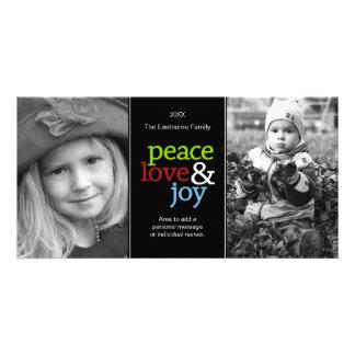 Amor y alegría - tarjeta de la paz de la foto tarjetas personales