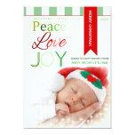 Amor y alegría - tarjeta moderna de la paz de la invitación 12,7 x 17,8 cm