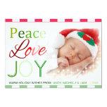 Amor y alegría - tarjeta verde roja de la paz de invitación 12,7 x 17,8 cm