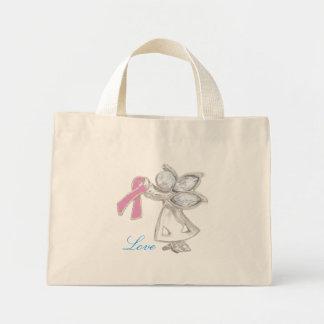 Amor y ángel bolsa tela pequeña