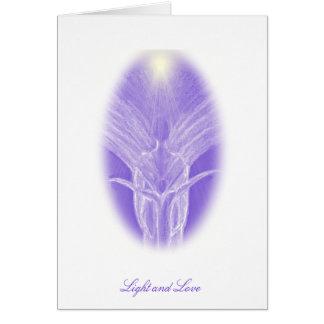 Amor y ángel purpúreo claro - tarjeta de felicitac