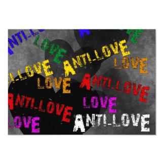 """Amor y Anti-Amor Invitación 5"""" X 7"""""""