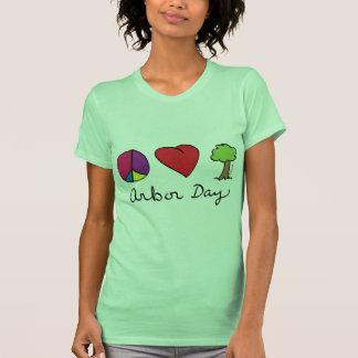 Amor y árboles - día del árbol de la paz remera
