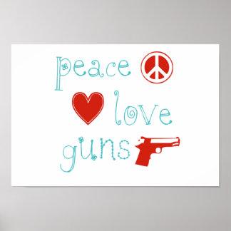 Amor y armas de la paz impresiones