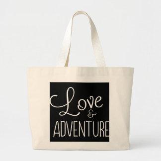 Amor y aventura bolsa tela grande