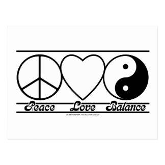 Amor y balanza de la paz postal
