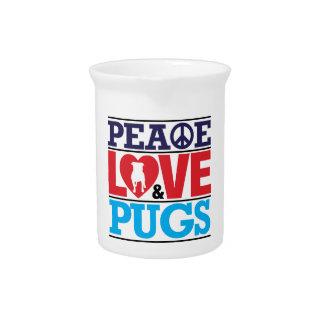 Amor y barros amasados de la paz jarra de beber