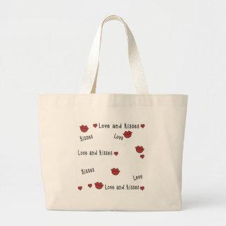 Amor y besos bolsa de mano