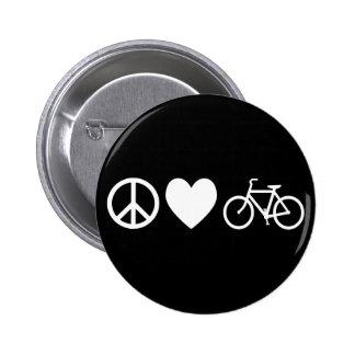 Amor y bicicletas de la paz pins