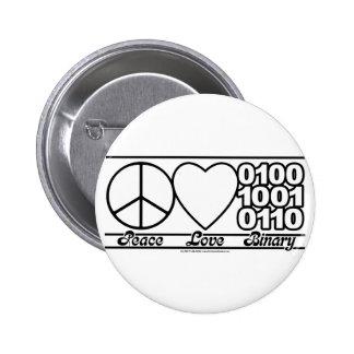 Amor y binario de la paz pin