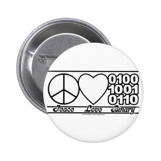 Amor y binario de la paz pins