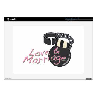 Amor y boda calcomanía para 38,1cm portátil