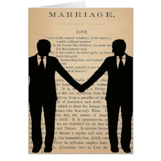 Amor y boda Longfellow que se casa gay del vintage Tarjeta De Felicitación