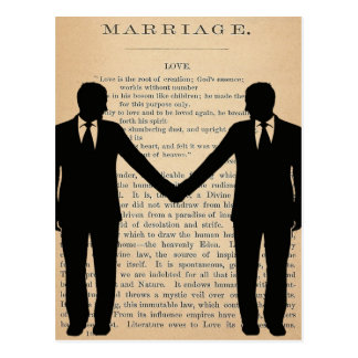 Amor y boda Longfellow que se casa gay del vintage Tarjeta Postal