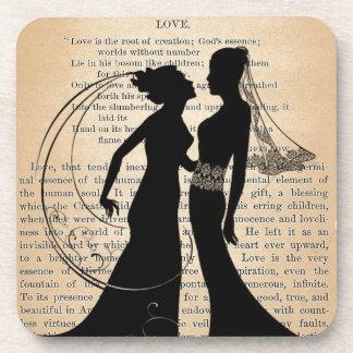 Amor y boda Longfellow que se casa lesbiano del Posavasos