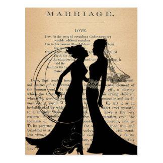 Amor y boda Longfellow que se casa lesbiano del Tarjetas Postales