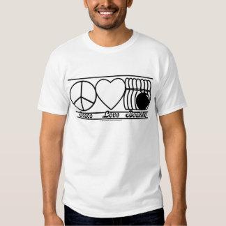 Amor y bolos de la paz camisas