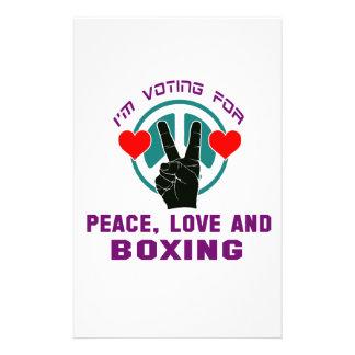 Amor y boxeo de la paz papeleria