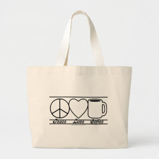Amor y café de la paz bolsas