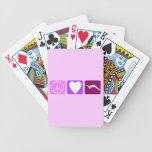 Amor y caída de la paz barajas de cartas