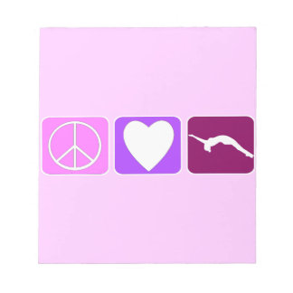 Amor y caída de la paz blocs de notas