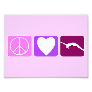 Amor y caída de la paz arte fotografico