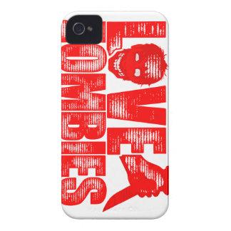 Amor y caja del abrigo de Slasher de los zombis Funda Para iPhone 4 De Case-Mate
