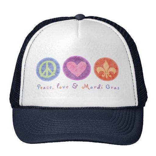 Amor y carnaval de la paz gorras de camionero