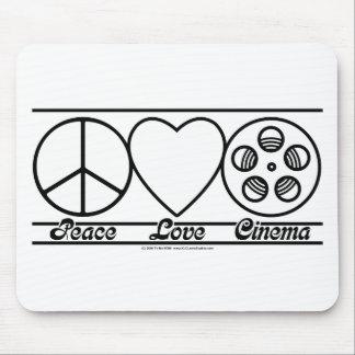 Amor y cine de la paz tapete de raton