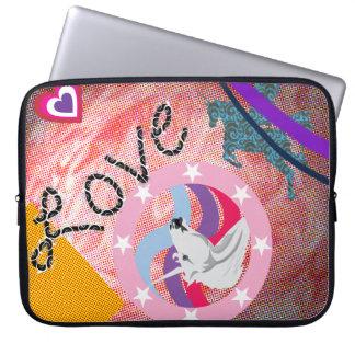 Amor y colores del unicornio mangas computadora
