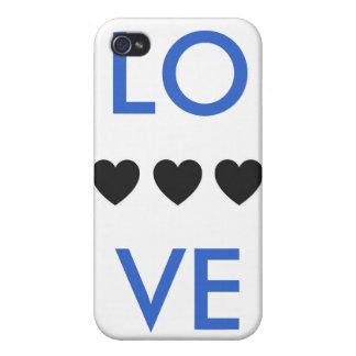 Amor y corazones iPhone 4 protectores